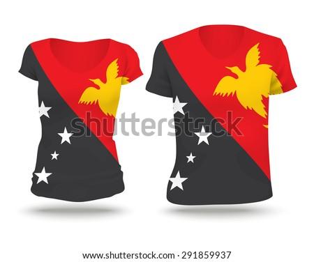 flag shirt design of papua new