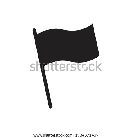 Flag symbol vector sign isolated on white background. Simple logo vector illustration for graphic and web design.