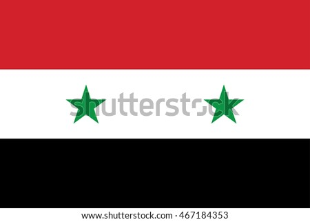 flag syria isolated vector in