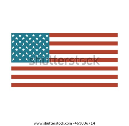 flag united states of america vector isolated graphic #463006714