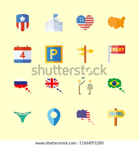 flag vector icons set united
