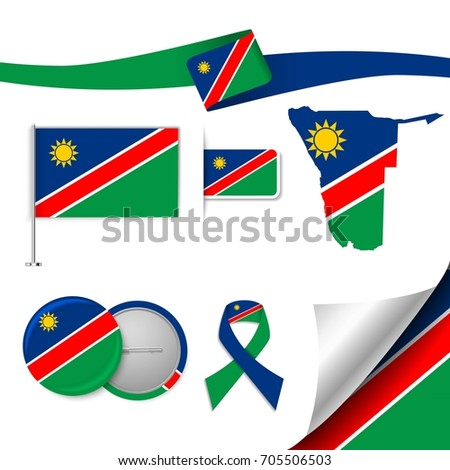 flag with elements namibia