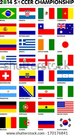 flags for soccer championship