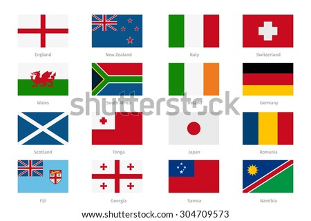 flags in flat style england