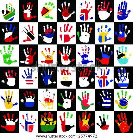 flags in the hands of kids