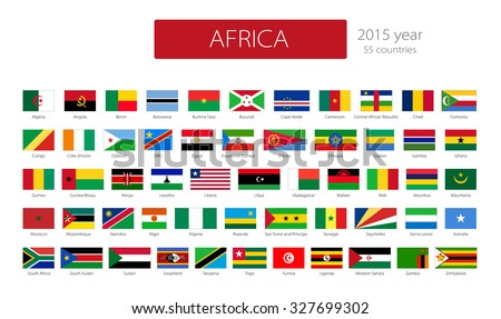 Flags Of Africa. Vector Set On White Background #327699302