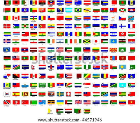 Flags of all countries in the world