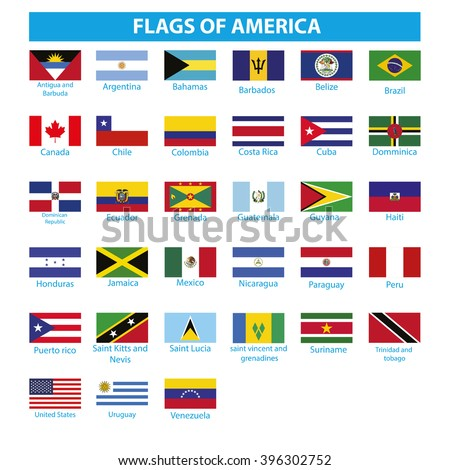 flags of asia america