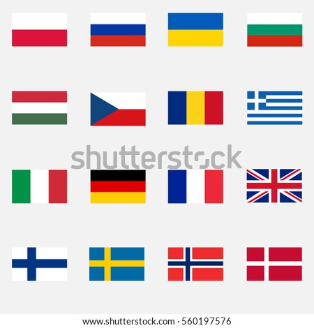 flags of countries  europe