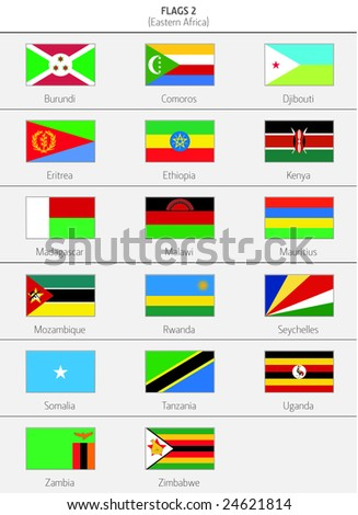 Flags of Eastern Africa Countries 1