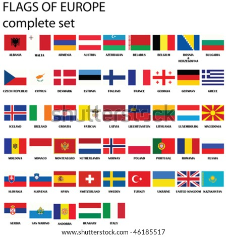 flags of europe  complete set