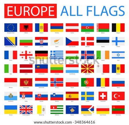 flags of europe   full vector