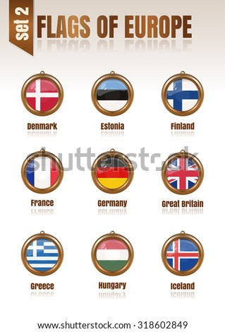 flags of europe in the form of