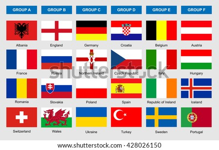 flags of football teams  vector