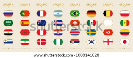 flags of football tournament