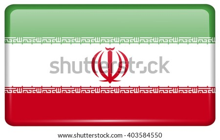 flags of iran in the form of a