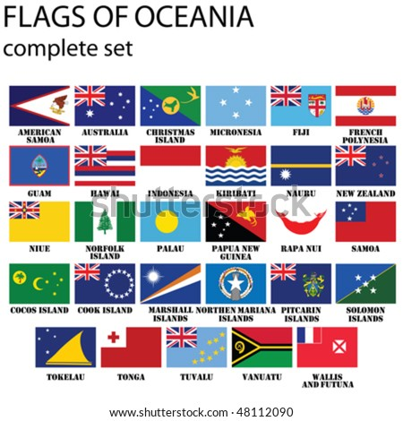 flags of oceania  all countries