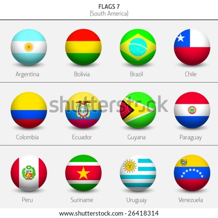 Flags of South America Countries 6