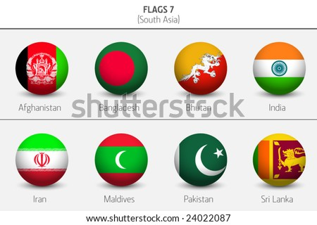 Flags of Southern Asia Countries 7
