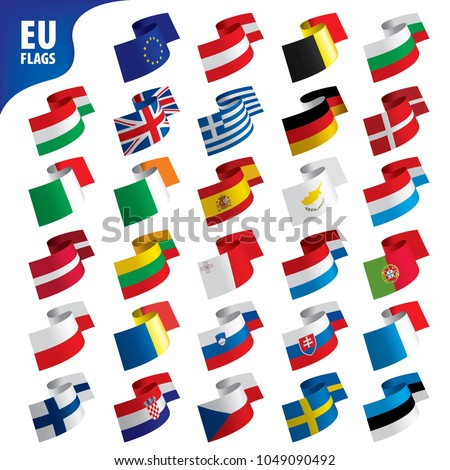 flags of the european union #1049090492