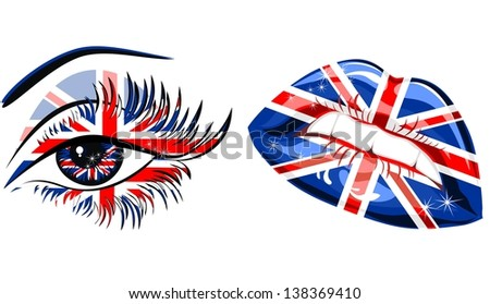 flags of the great britain in