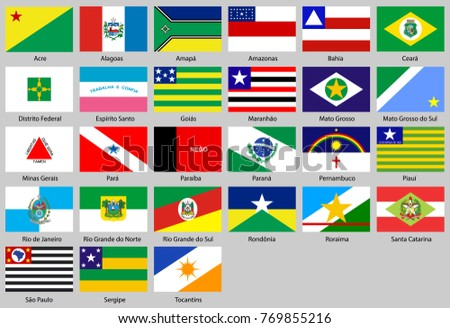 Flags of the states of Brazil