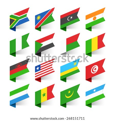 flags of the world  africa  set