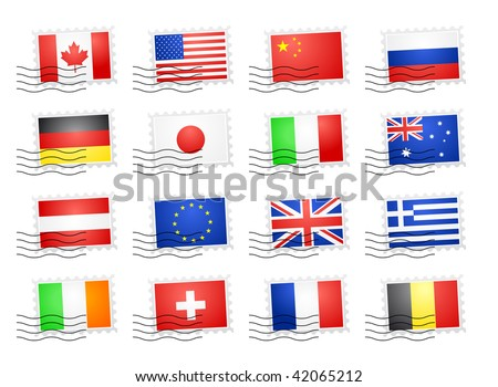flags of the world countries. stock vector : Flags of the world countries - stamps