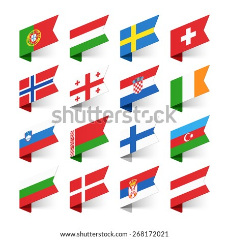 flags of the world  europe  set