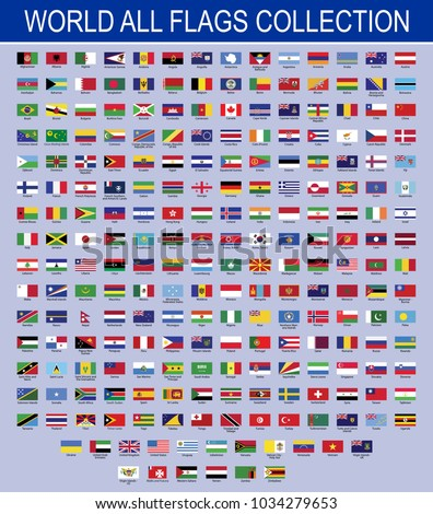 Flags of the World set All world flags Vector