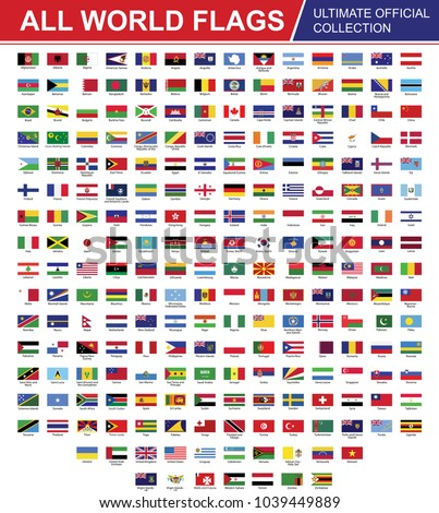 Flags of the World set Vector EPS 10