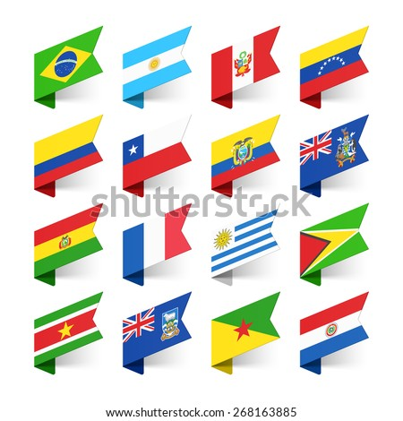 flags of the world  south