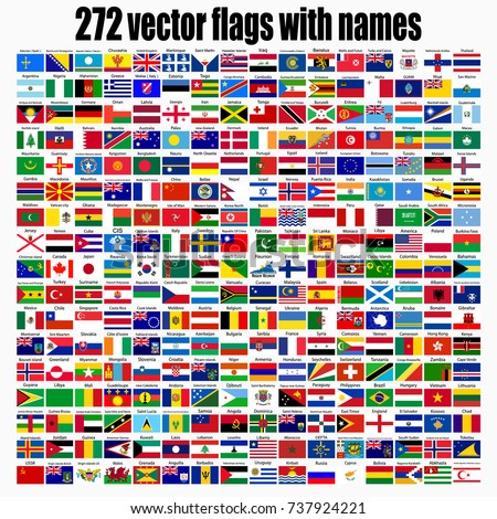 flags of the world  square