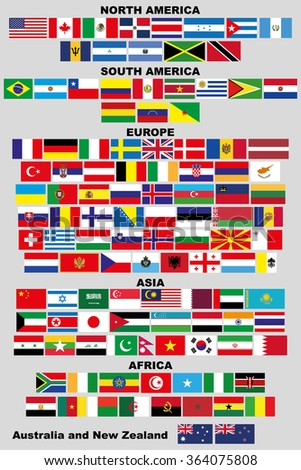 flags of world 120 flags