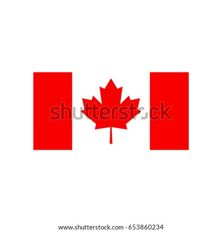 Flags vector of the Canada.
