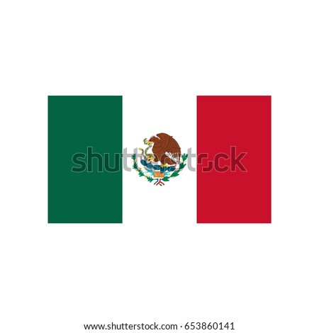 flags vector of the mexico