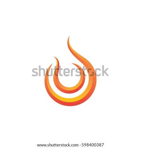 flame abstract swoosh logo