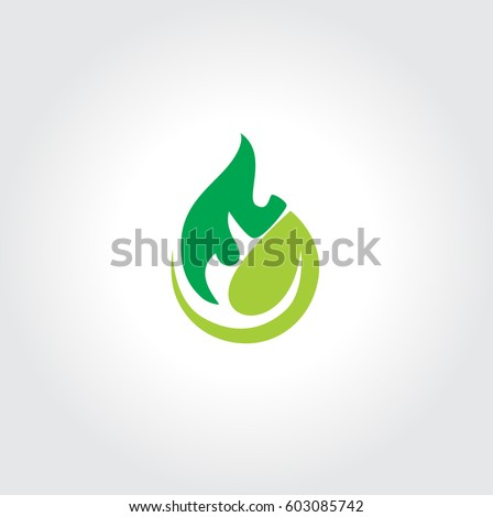 flame and leaves logo