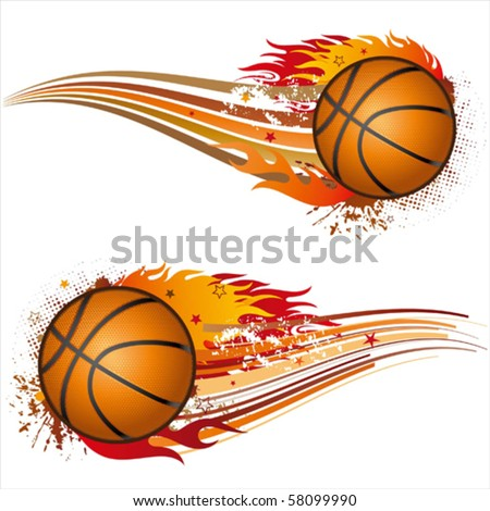 flame,basketball design element