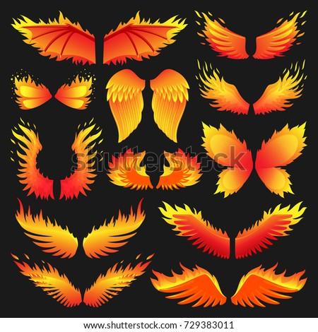 flame bird fire wings fantasy