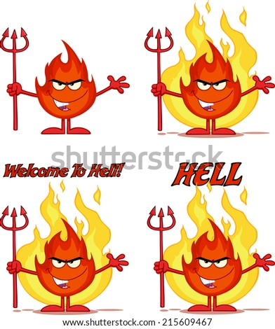 flame cartoon mascot character