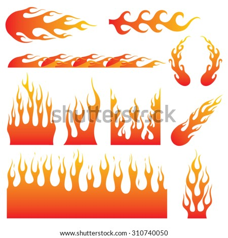 flame decals great for vehicle