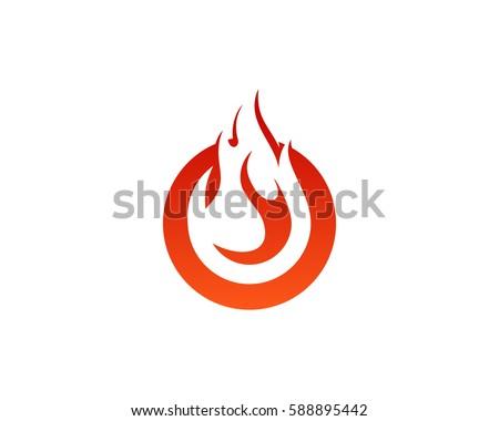 Flame Fire Logo Design Element