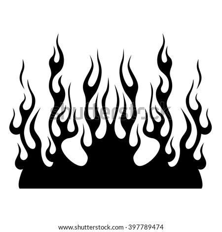flame fire vector tribal black