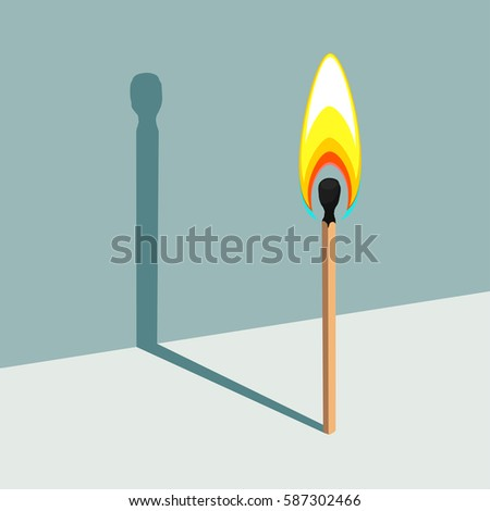 flame has no shadow vector