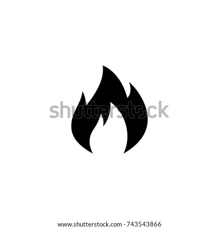 Flame Icon, Flame icon vector, in trendy flat style isolated on white background.Flame icon image, Flame icon illustration