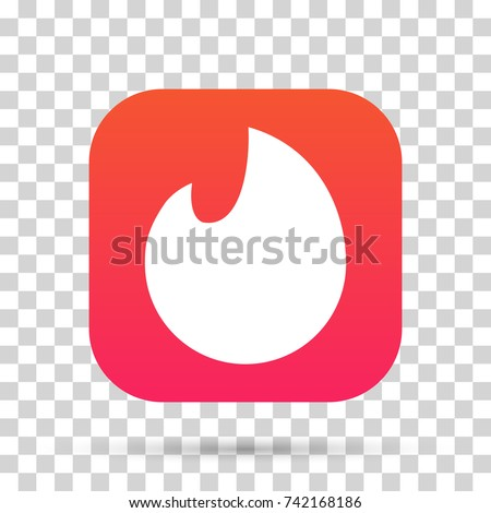 Flame icon. Graphic template. Vector illustration