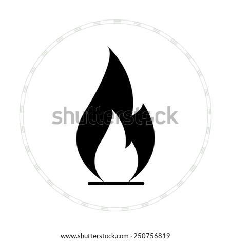 flame icon vector black