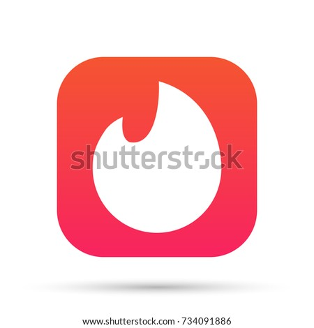Flame icon. Vector illustration