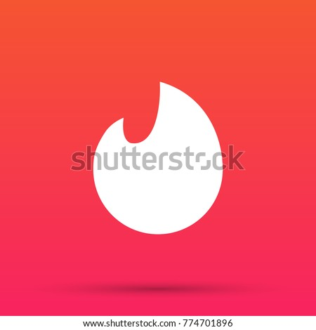 Flame, icon. Vector illustration